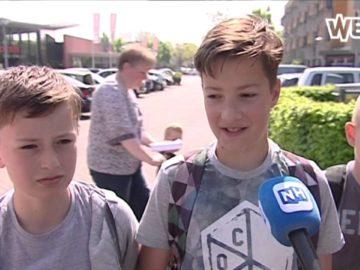 basisschoolkinderen Hoorn niet blij met stenengooiende jongeren