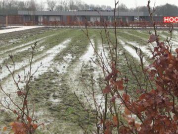 Begraafplaats is modderpoel