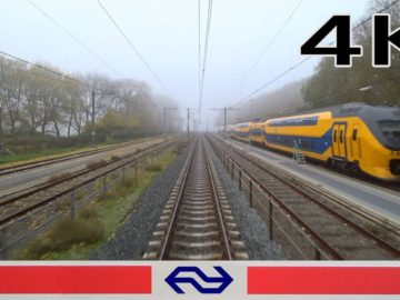 foggy morning train ride 4K CABVIEW HOLLAND Enkhuizen – Amsterdam VIRM 16nov 2018