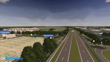 Vogelvlucht over nieuwe N23 Westfrisiaweg Hoorn-Enkhuizen